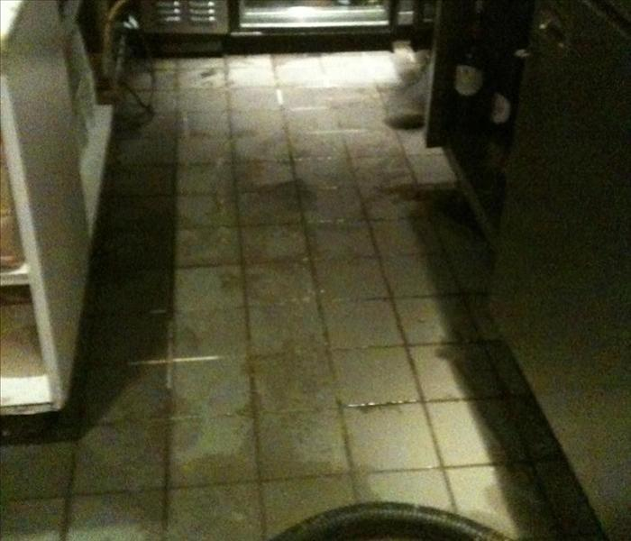 Commercial Water Damage – Americus Restaurant Before